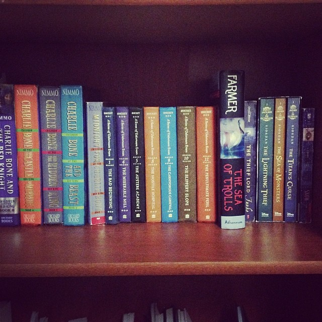 Shelfie of some of my favorite Children's Fantasy