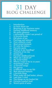 31 day blog challenge